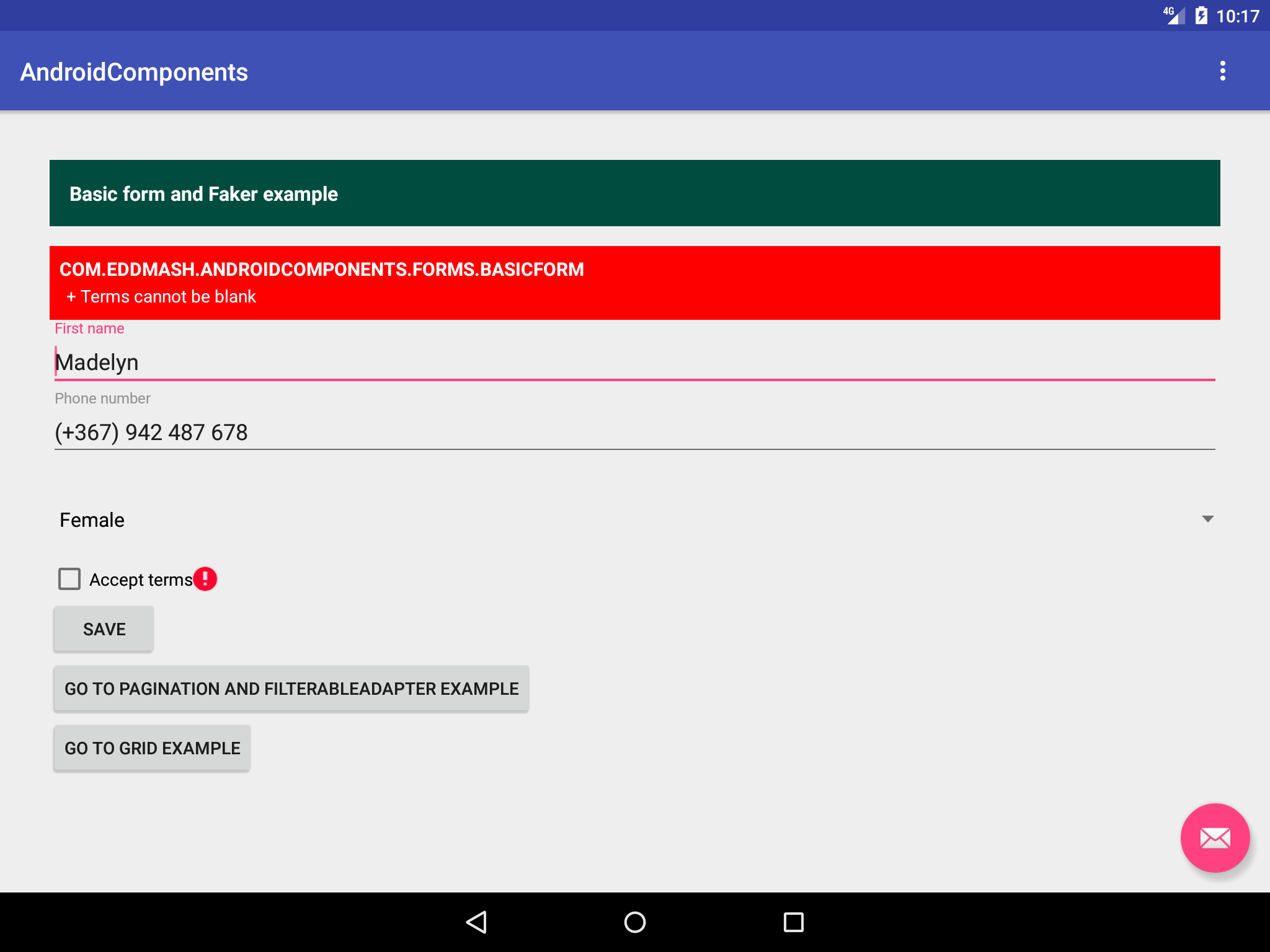 Welcome to Android Forms documentation! — Android Components